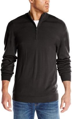 Cutter & Buck Men's Big-Tall Douglas Half Zip Sweater