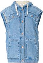 Etoile Isabel Marant boxy sleeveless jacket - women - Cotton/Acrylic/Polyester - 36