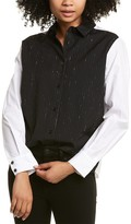 Thumbnail for your product : Piazza Sempione Camicia Wool-Blend Shirt