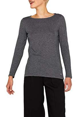 Esprit Women's 089ee1k010 Long Sleeve Top, (White 100), Medium