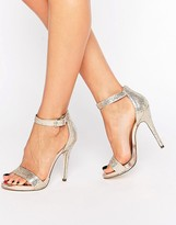 Call it SPRING Sheren Gold Barely There Heeled Sandals