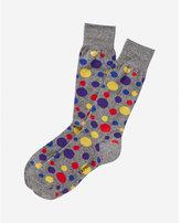 Express marled mixed dot dress socks