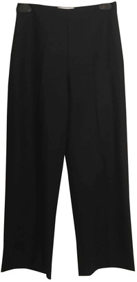 Harmony Black Wool Trousers for Women