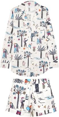 Desmond & Dempsey La Vida printed cotton pyjama set