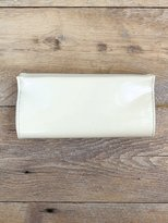 Free People Vintage Creme Patent Leather Clutch