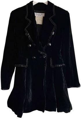 Christian Dior Black Velvet Coat for Women Vintage