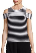 Derek Lam 10 Crosby Striped Cold Shoulder Top