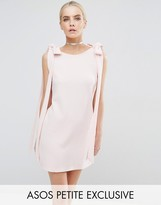 Asos Rib Bow Mini Shift Dress