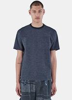 Kolor Men's Crew Neck Technical Boxy T-shirt In Grey