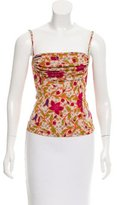 Versace Sleeveless Floral Print Top