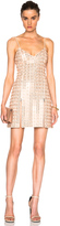 David Koma Embroidered V Neck Dress