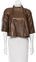 Marni Cropped Leather Jacket