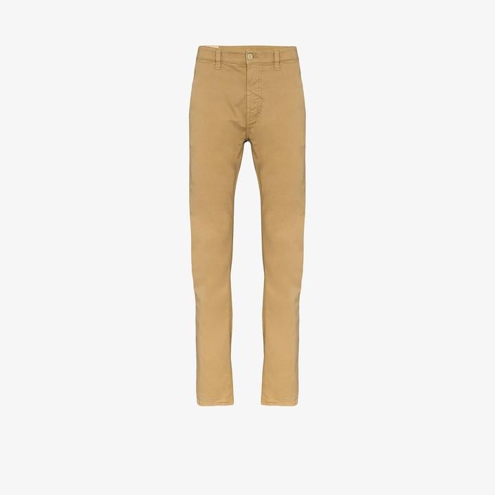 Nudie Herren Slim Fit Cord Jeans HoseGrim Tim Organic Sand CordBeige