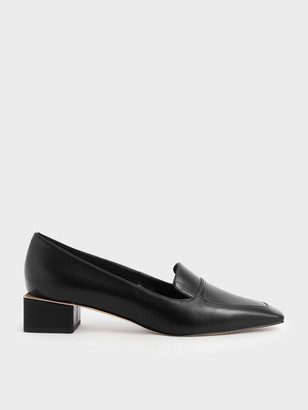 Charles & Keith Block Heel Loafers