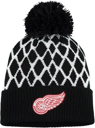 adidas Men's Black Detroit Red Wings Culture Netminder Cuffed Knit Hat