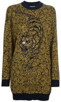 Kenzo beaded tiger sweater