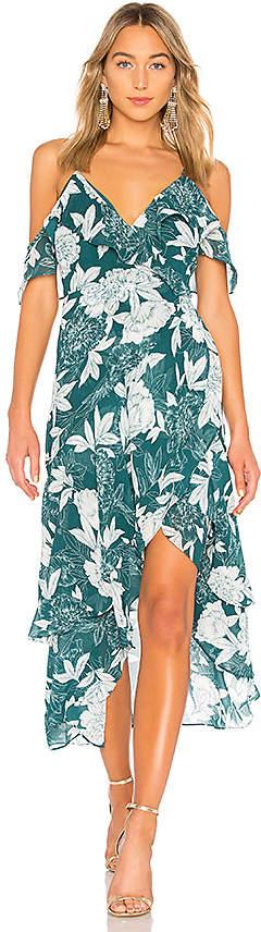 Bardot Floral Party Dress