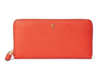 Ralph Lauren Pebbled Leather Zip Wallet
