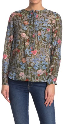 See U Soon Floral Long Sleeve Button Top