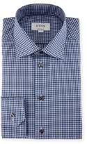 Eton Check Dress Shirt, Blue/Gray