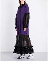 Maison Margiela American cotton and chiffon dress