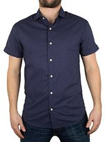 Scotch & Soda Men's Short Sleeve Blue Shirt