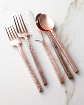 Cambridge Silversmiths 20-Piece Mala Flatware Set, Antiqued Copper