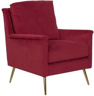 HomePop Ruby Velvet Modern Armchair