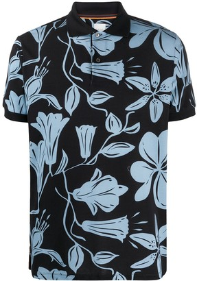 Paul Smith All-Over Floral Print Polo Shirt
