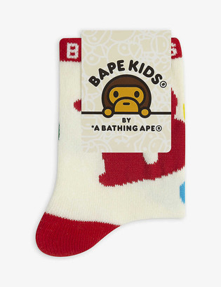 A Bathing Ape Graphic-print cotton-blend ankle socks