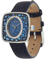 Judith Ripka Stainless Steel & DiamoniqueStingray Watch