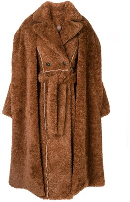 Ruban Layered Faux-Fur Coat
