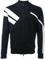 Neil Barrett stripe contrast bomber jacket - men - Cotton/Spandex/Elastane/Lyocell/Viscose - S