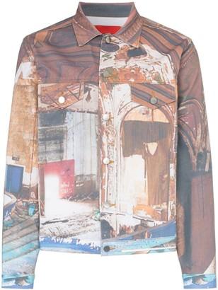 424 Printed Denim Jacket