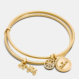 Coach Horse And Carriage Coin Bangle Set
