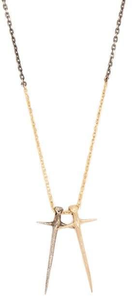 Pearls Before Swine Double Cross Pendant - Mens - Multi