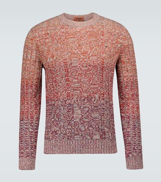 Missoni Rainbow knitted crewneck sweater