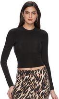 JLO by Jennifer Lopez Women's Luxe Essentials Mockneck Crop Top