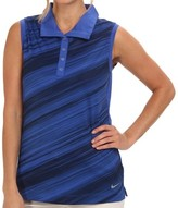 Nike Blue Women's Size XS Printed Sleeveless Polo Shirt