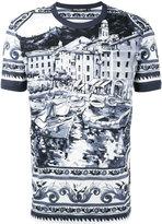 Dolce & Gabbana Ceramic print t-shirt - men - Cotton - 52