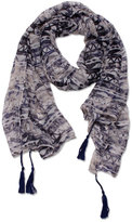 David & Young Women's Blurred Tribal Scarf
