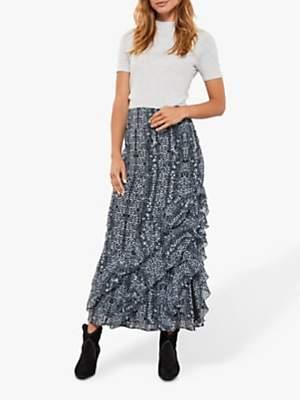 Mint Velvet Kiera Animal Print Maxi Skirt, Multi