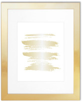 """Edgewood Parkwood 11""""x14"""" Frame With 8""""x10"""" Mat, Gold"""