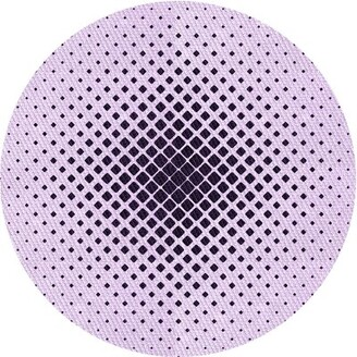 East Urban Home Geometric Wool Pink Area Rug Rug Size: Runner 2' x 5'
