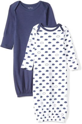 Moon and Back Baby Set of 2 Organic Sleeper Gowns