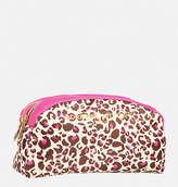 Avenue Leopard Double Zip Cosmetic Bag