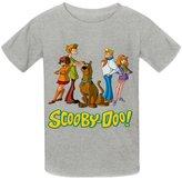 Kidsloveit Kids Boys' Scooby-Doo Logo Cotton Crew Neck T Shirts M