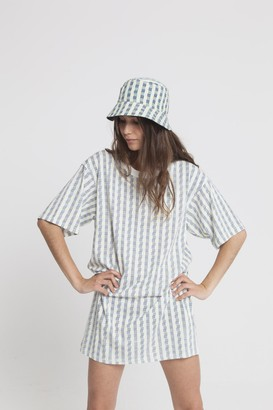 Thinking Mu - Organic Cotton Toldos Tee Dress - S - Grey/White
