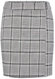 Ichi Ihbiance SK2 short straight checkered wrap Skirt - 34 | polyester | Duffel Bag
