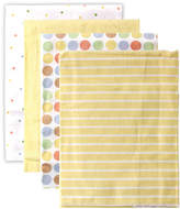 Luvable Friends Yellow Polka Dot Receiving Blankets - Set of Four